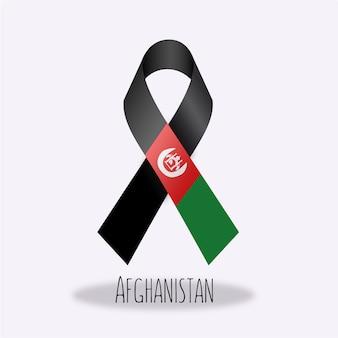 Afganistan flag ribbon design