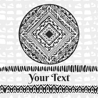 African background with round ornament