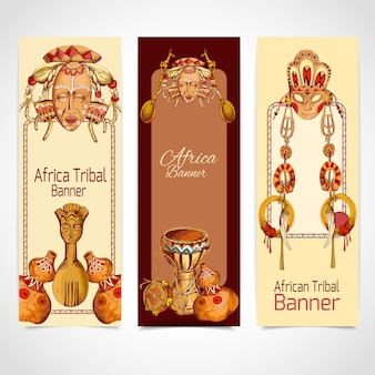 African banners collection