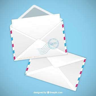 航空便の封筒