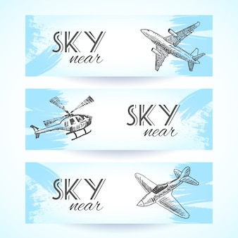 Airplane banners collection