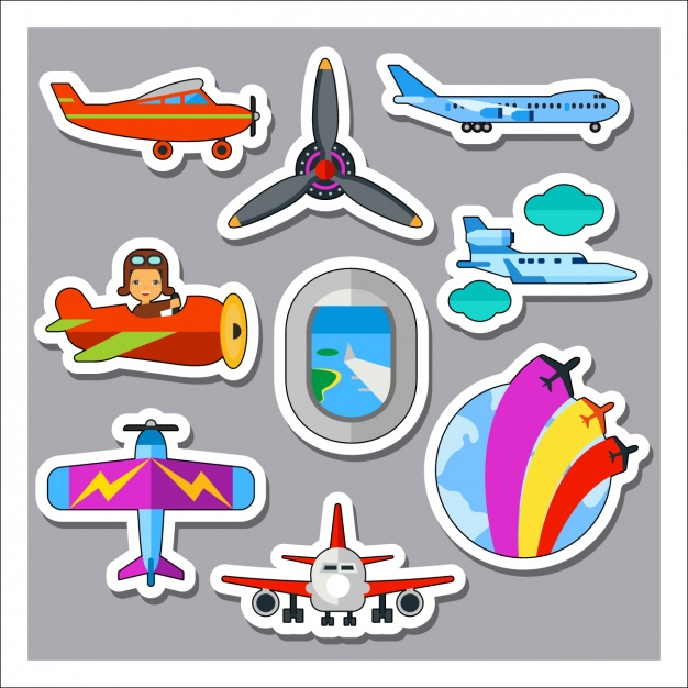 Airplane labels collection