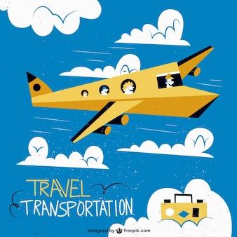 Airplane retro illustration