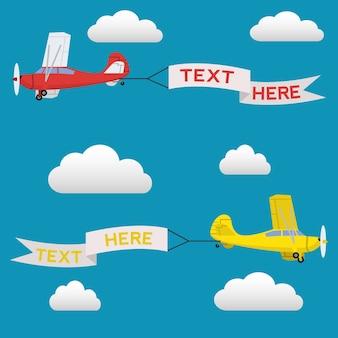 Airplanes background design