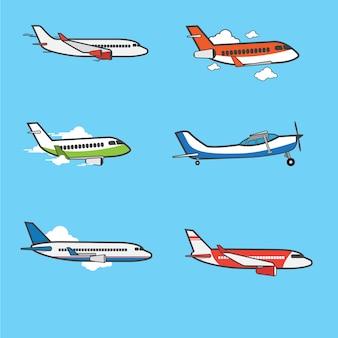 飛行機フラットデザインコレクション