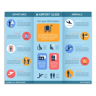 Airport guide brochure