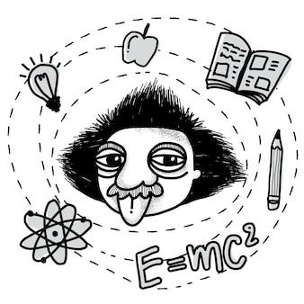 Albert Einstein Doodle.