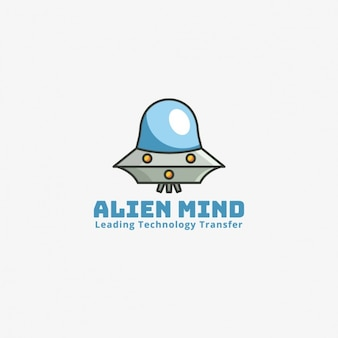 Alien logo on a gray background