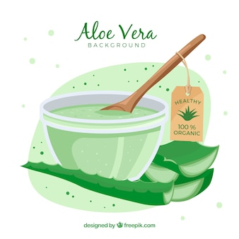 Aloe vera lotion background