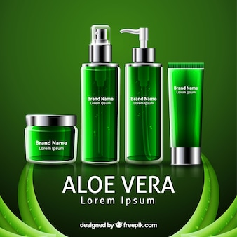 Aloe vera products banner