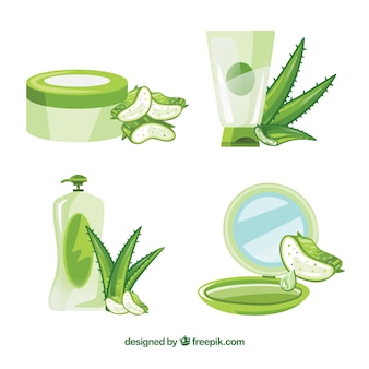 Aloe vera products collection