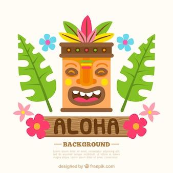 Aloha background with mask