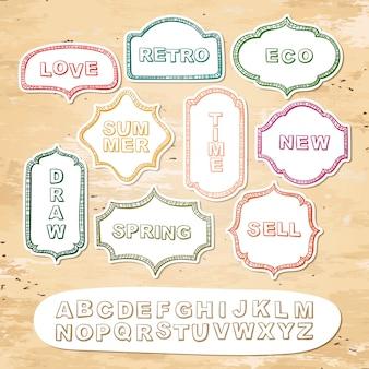 アルファベットとフレーム