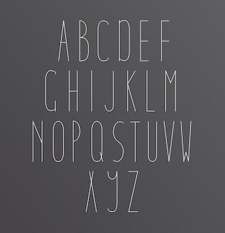 Alphabet Font letters