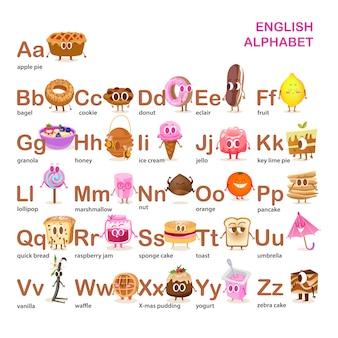Alphabet food design