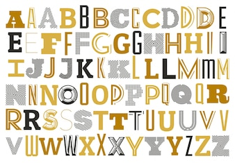 Alphabet with different letters
