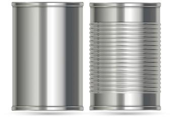 2つの異なるデザインのアルミ缶