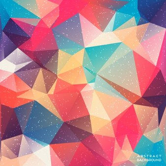 Amazing background with polygonal shapes