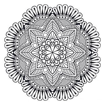 Amazing black and white mandala
