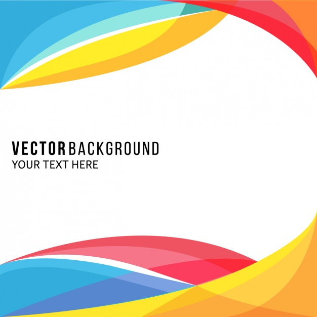 Amazing full color background with wavy shapes