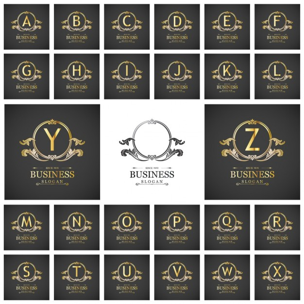 Amazing gold logos collection