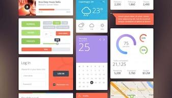 Amazing UI kit PSD material