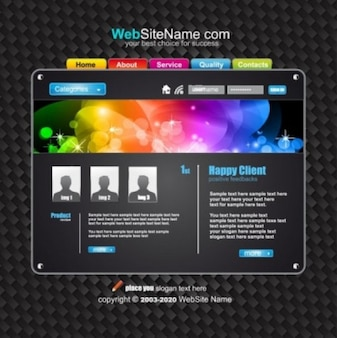 Amazing web pages templates vector