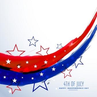 7月のお祝いの背景のアメリカの第四
