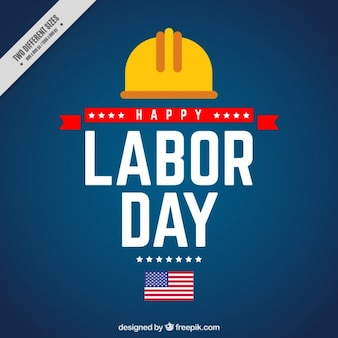 American blue background of labor day