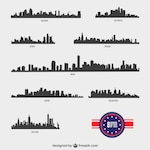 American Cities silhouettes