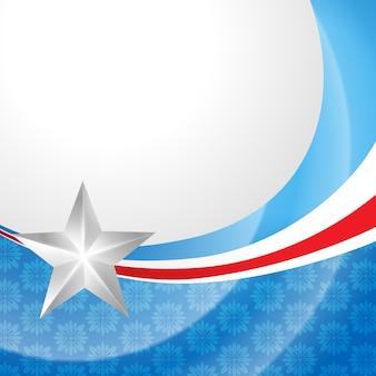 スタイリッシュなアメリカ独立日のデザイン