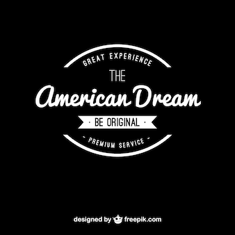 American dream vintage logo