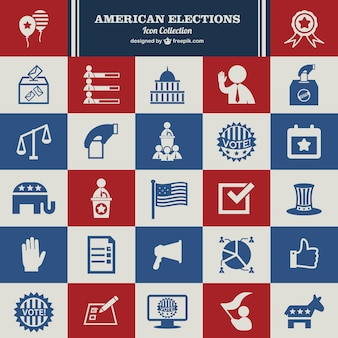 American elections icons collection