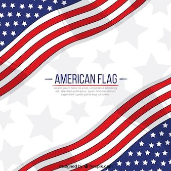Американский флаг узором фон