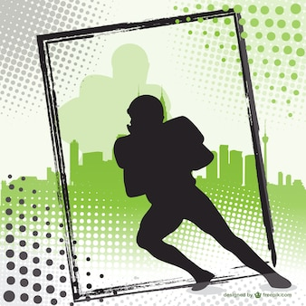 American football player silhouette background