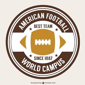 American football retro ball badge