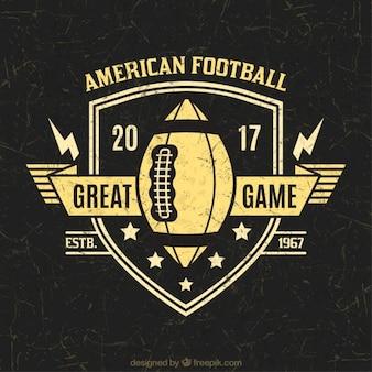 American football shield badge