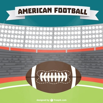 American football stadium background and ball