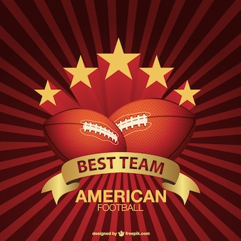 American football sunburst background