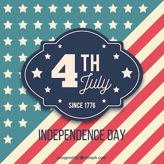 American independence vintage background