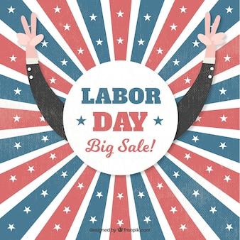 American retro sale background of labor day