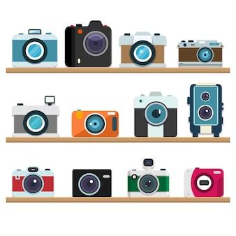 Analog retro cameras