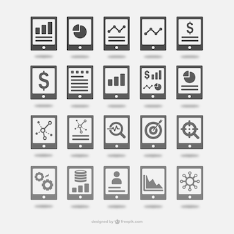 Analytics icons set