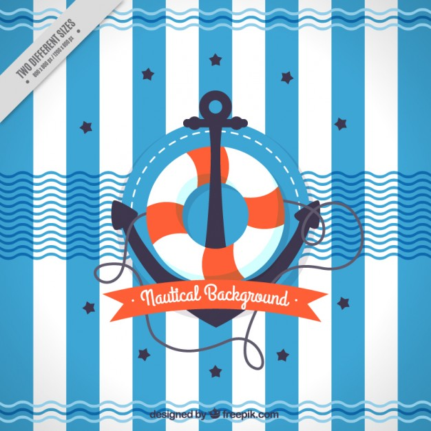 Anchor with life preserver background