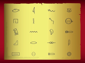 ancient Hieroglyph geometric shape vector