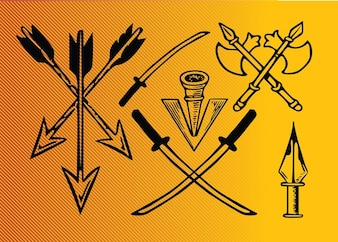 Ancient weapons vector pack