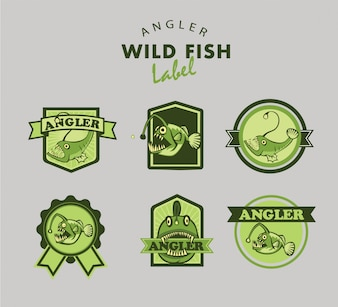 Angler fish logo collection