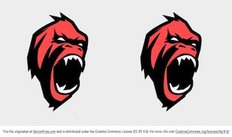 Angry gorilla face vector