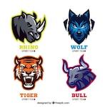 Animal badges for sport teams