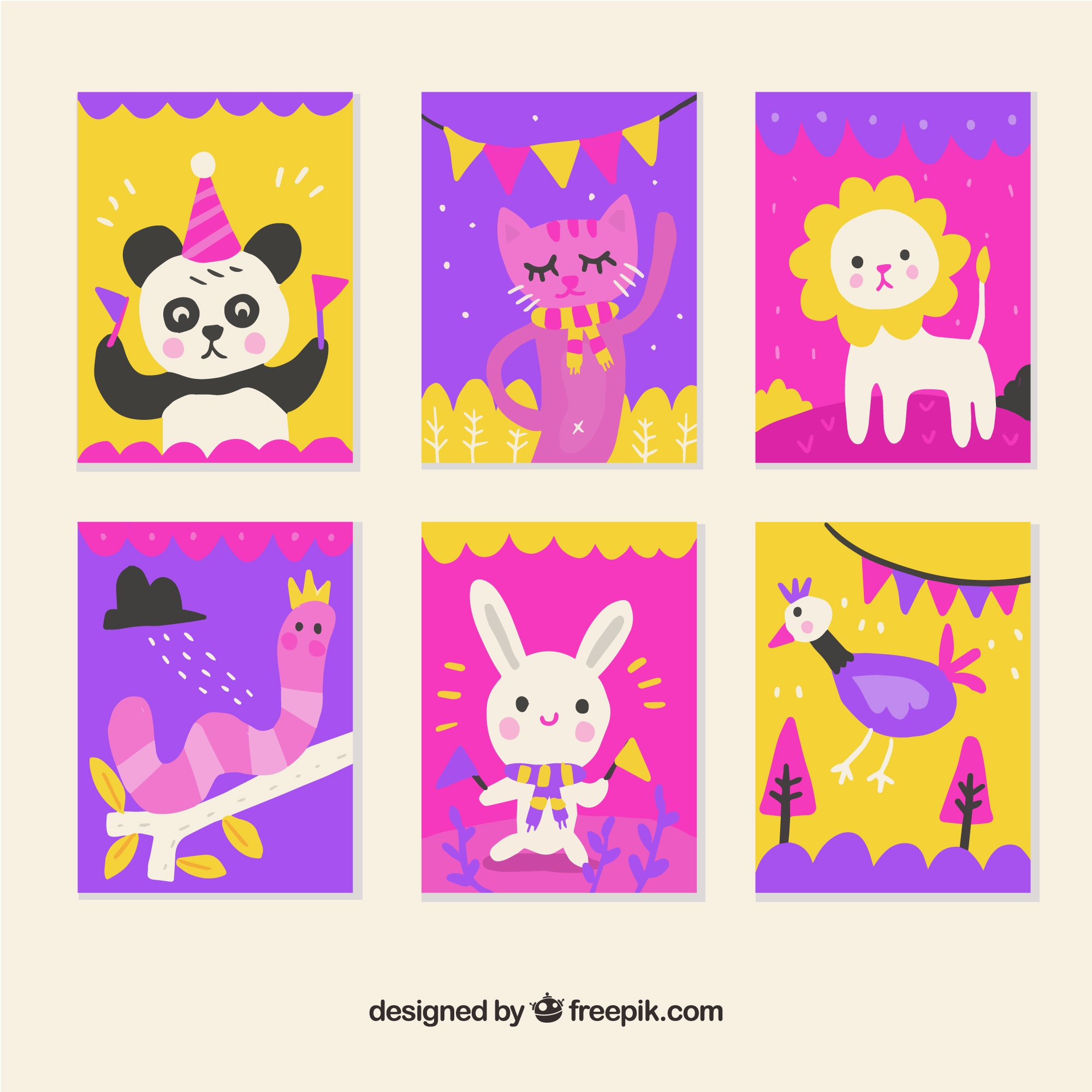 Animal cards collection